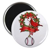 Baseball Christmas Wreath Magnet