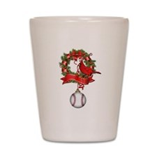 Baseball Christmas Wreath Shot Glass