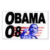 Obama '08 Rectangle Decal