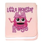 Little Monster Rose baby blanket