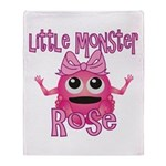 Little Monster Rose Throw Blanket