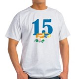 15th Anniversary w/ Wedding Rings T-Shirt