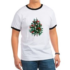 Baseball Christmas Tree T