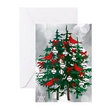 Baseball Christmas Tree Greeting Cards (Pk of 10)