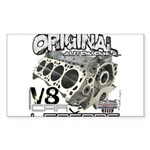 Original V8 Sticker (Rectangle 10 pk)