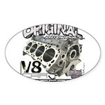 Original V8 Sticker (Oval 50 pk)