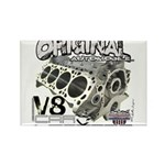 Original V8 Rectangle Magnet (100 pack)