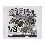 Original V8 Throw Blanket