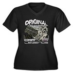 Original V8 Women's Plus Size V-Neck Dark T-Shirt