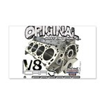 Original V8 22x14 Wall Peel