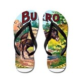 Burro Cigar Label Flip Flops