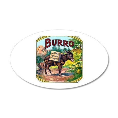 Burro Cigar Label 22x14 Oval Wall Peel