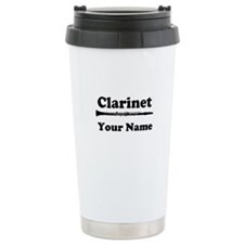 Personalized Clarinet Ceramic Travel Mug