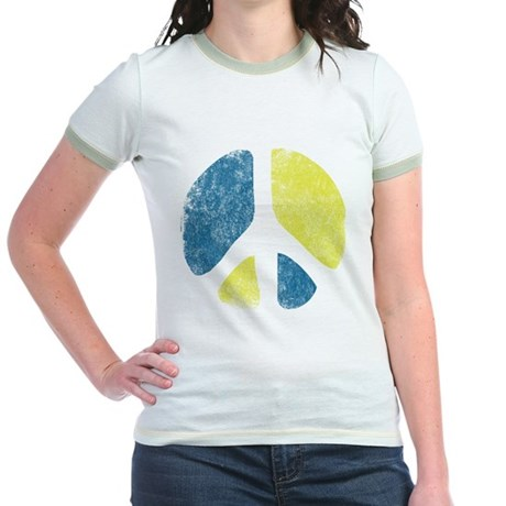 Vintage Peace Sign Jr Ringer T-Shirt