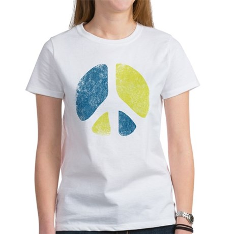 Vintage Peace Sign Womens T-Shirt
