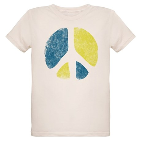 Vintage Peace Sign Organic Kids T-Shirt