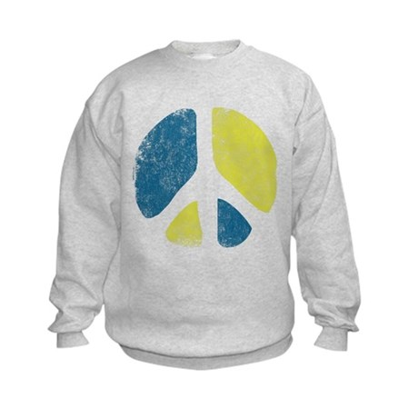 Vintage Peace Sign Kids Sweatshirt