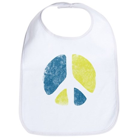 Vintage Peace Sign Bib