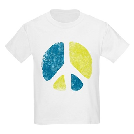 Vintage Peace Sign Kids Light T-Shirt