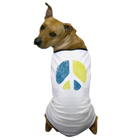 Vintage Peace Sign Dog T-Shirt