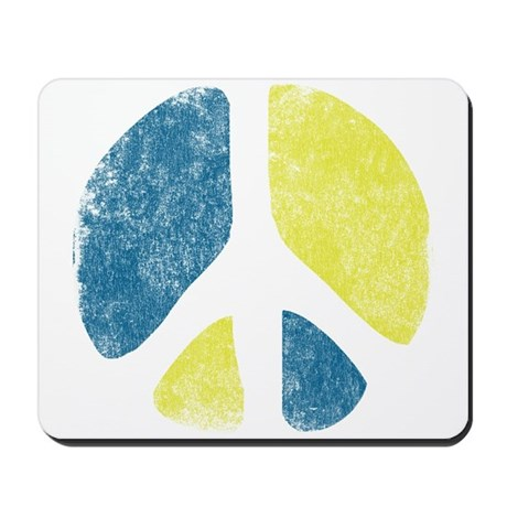 Vintage Peace Sign Mousepad