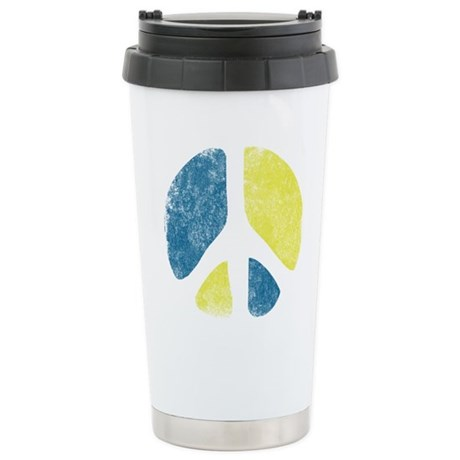 Vintage Peace Sign Ceramic Travel Mug