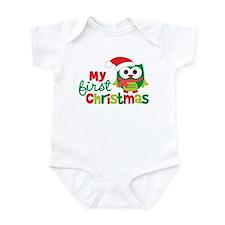 My First Christmas Owl Infant Bodysuit