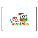 My First Christmas Owl Banner