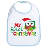 My First Christmas Owl Bib