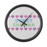 Sweet SHAWNA Large Wall Clock
