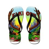 Elkhorn Cigar Label Flip Flops