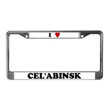 I Love Cel'abinsk License Plate Frame