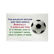 Soccer2 Rectangle Magnet