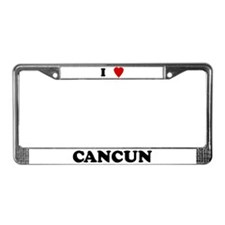 I Love Cancun License Plate Frame
