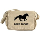 Bred To Win Horse Racing Messenger Bag