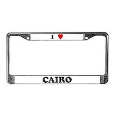 I Love Cairo License Plate Frame