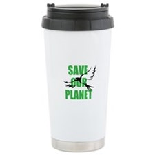 save our planet Ceramic Travel Mug