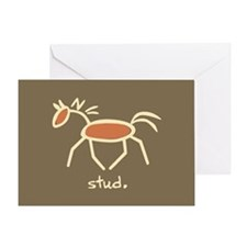 Horse-isms: STUD - Greeting Card