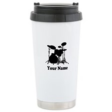 Personalized Drums Ceramic Travel Mug
