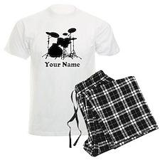 Personalized Drums Men's Light Pajamas