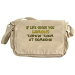 If life gives you lemons.. Messenger Bag