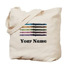 Personalized Flute Music Tote Bag