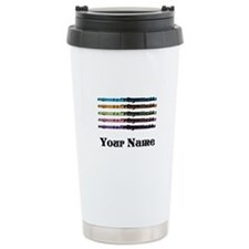 Personalized Flute Music Ceramic Travel Mug