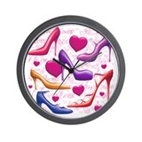 I Love Shoes Wall Clock