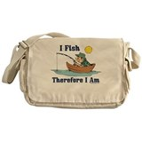I Fish, Therefore I Am Messenger Bag
