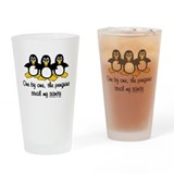 One by one, the penguins Drinking Glass