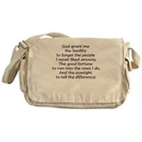 God grant me the Senility... Messenger Bag