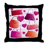 I love Handbags Throw Pillow