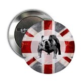 "Union Jack and Bulldog 2.25"" Button"