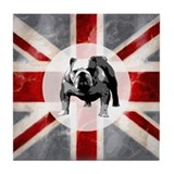 Union Jack and Bulldog Tile Coaster